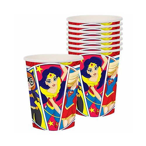Vasos Super Hero Girls (8 uds)