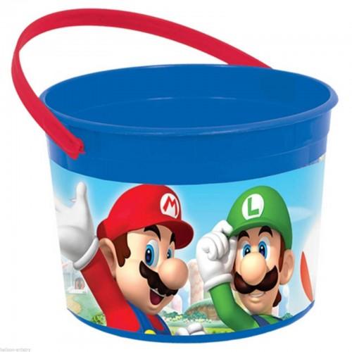 Cubo plástico Super Mario Bros (1 ud)