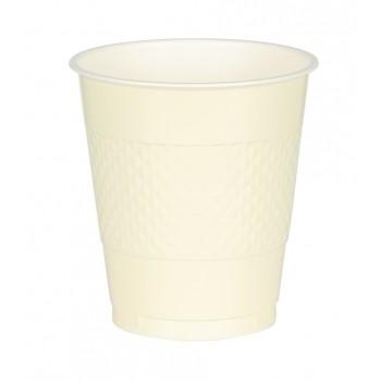Vasos Plástico Vainilla 355 ml (10 uds)