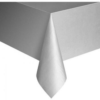 Mantel Plástico Color Plata
