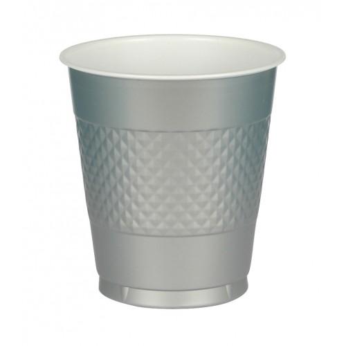 Vasos Plástico Plata 355 ml (10 uds)