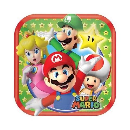 Platos Super Mario Bros 18 cm (8 uds)