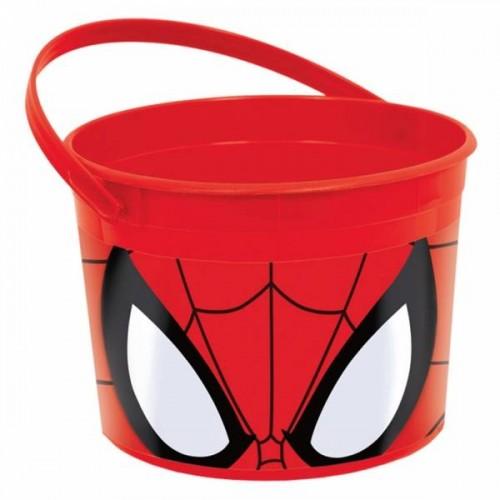 Cubo plástico Spiderman (1 ud)