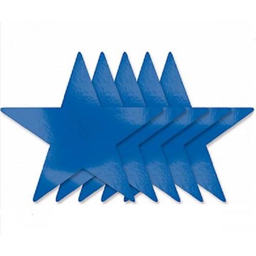 Estrellas recortables color azul (5 uds)