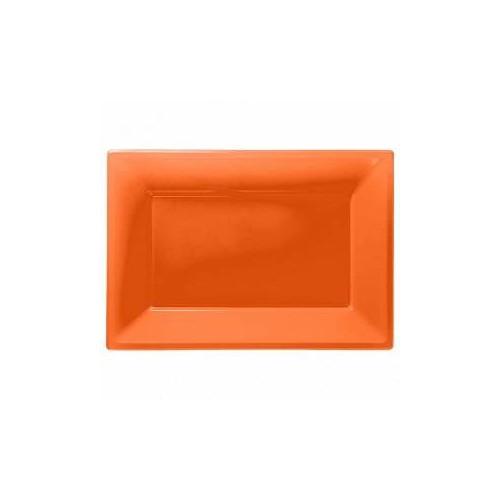 Bandeja naranja de Plástico (3 uds)