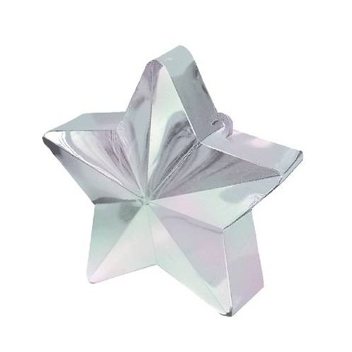 Peso Estrella Blanco Iridiscente (1 ud)