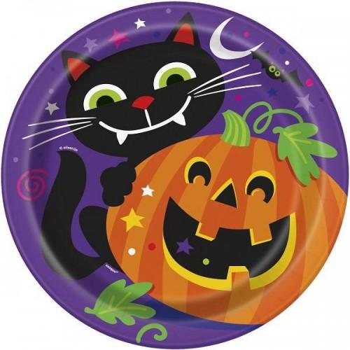 "'Platos ""Happy Halloween"" 23 cm (8 uds)"