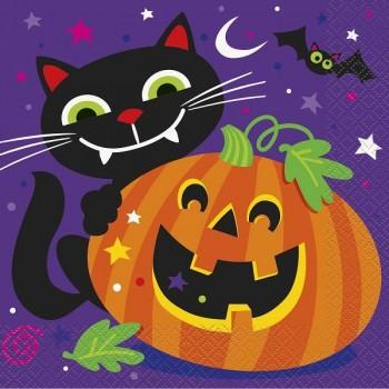 "Servilletas ""Happy Halloween"" grandes (16 uds)"