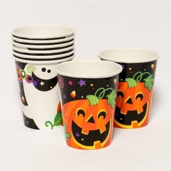 """Vasos """"Happy Halloween"""" (8 uds)"""
