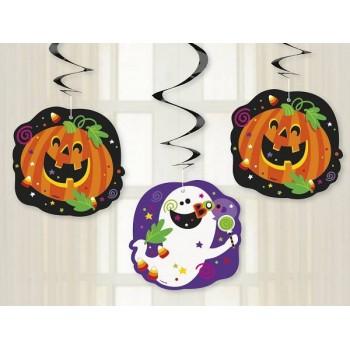 """Decoración colgante """"Happy Halloween"""" (3 uds)"""