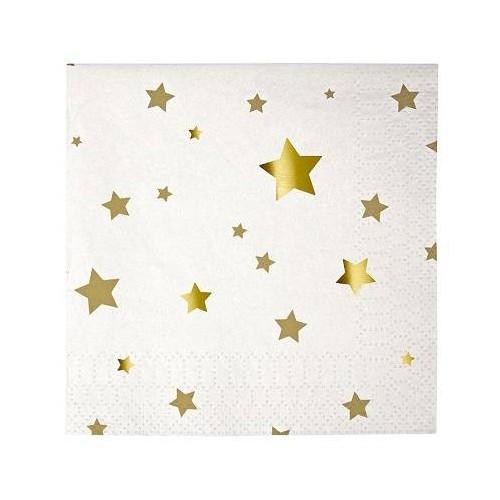 Servilletas Estrellas Oro (20 uds)