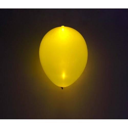 Globos Amarillos Con Luz (5 uds)