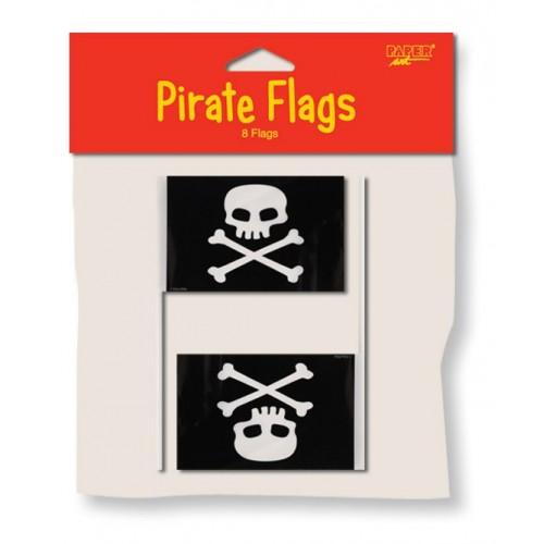 Banderas Piratas Pequeñas (8 uds)
