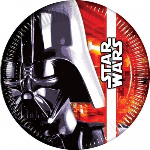 Platos 23 cm Star Wars (8 uds)
