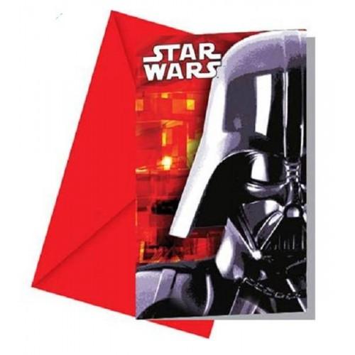 Invitaciones Star Wars (6 uds)