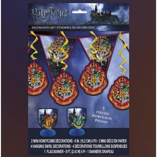 Kit decoración Harry Potter (7 uds)