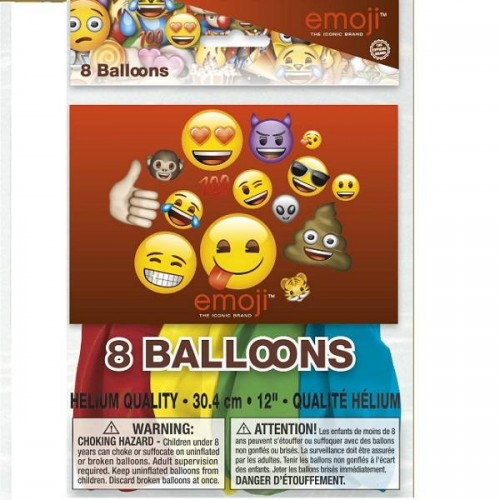Globos latex Emoji (8 uds)