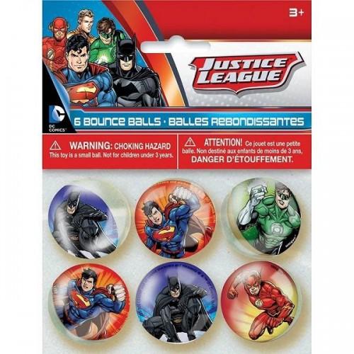 Pelotas de goma saltarinas la Liga de la Justicia (6 uds)