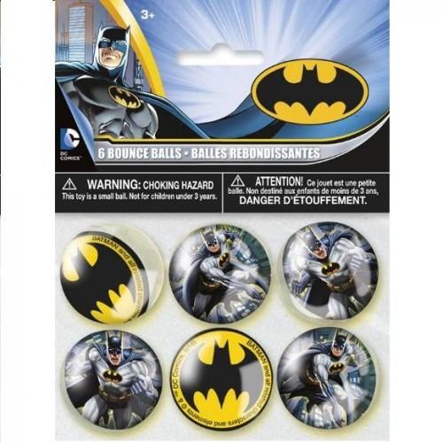 Pelotas saltarinas Batman (6 uds)