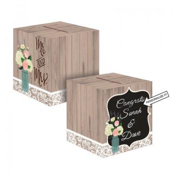 Caja Personalizable Rustic Wedding
