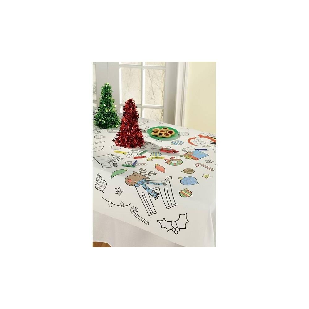 Mantel de Navidad para colorear (1 ud) - HIPERFIESTAS