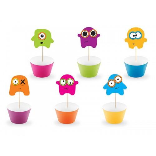 Kit cupcakes Monster (6 uds)