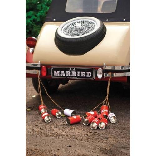 Latas decoración coche novios (5 uds)