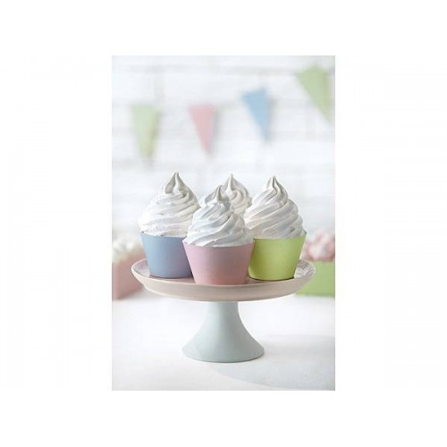 Kit cupcakes colores pastel (6 uds)