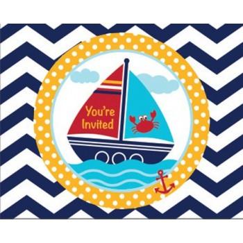 Invitaciones Ahoy Matey! (8 uds)