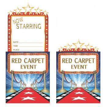 Invitaciones Hollywood Lights (8 uds)