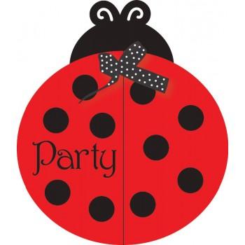 Invitaciones Ladybug Fancy (8 uds)