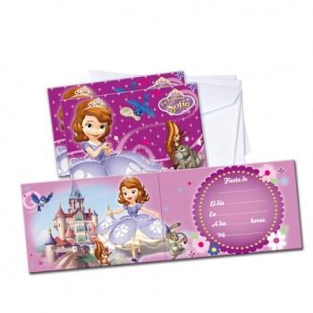 Invitaciones Princesa Sofia (6 uds)