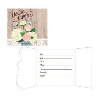 Invitaciones Rustic Wedding (8 uds)
