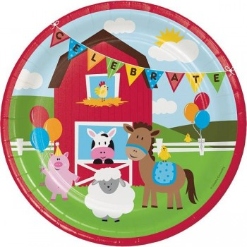 Platos 23cm Farmhouse Fun (8 uds)