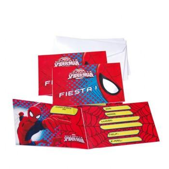 Invitaciones Spiderman Ultimate (6 uds)