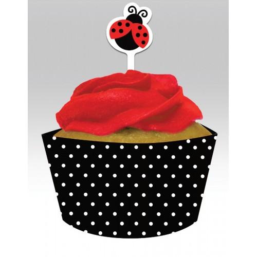 Kit Cupcakes Ladybug Fancy (12 uds)