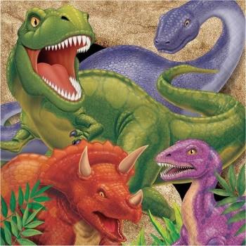 Servilletas Dinosaurios Grandes (16 uds)