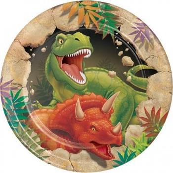 Platos Dinosaurios 18 cm (8 uds)