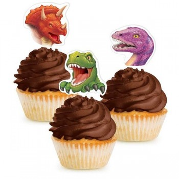 Pinchos Cupcake Dinosaurios (12 uds)