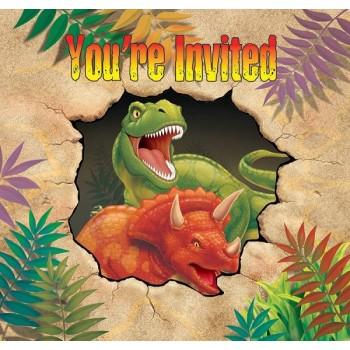 Invitaciones Dinosaurios (8 uds)