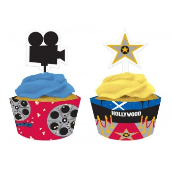 Kit Cupcake Hollywood Lights (12 uds)