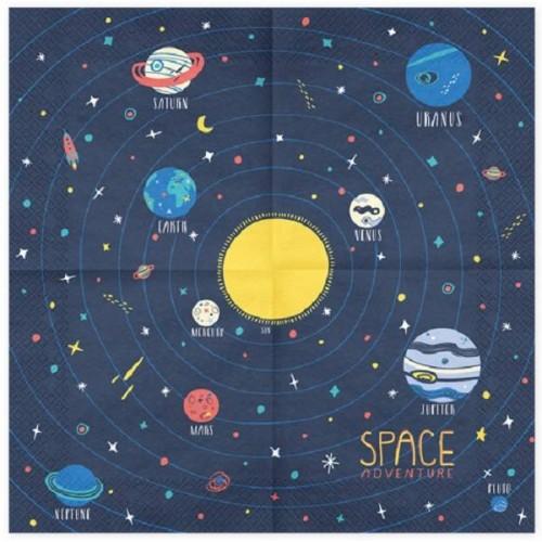 Servilletas Aventura Espacial grandes (20 uds)