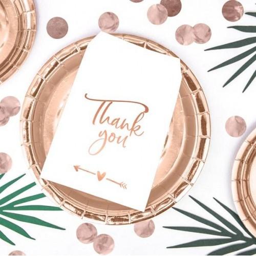 "Bolsas con ""Thank you"" en oro rosa (6 uds)"