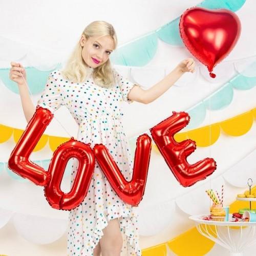 """Globo foil """"LOVE"""" rojo (1 ud)"""
