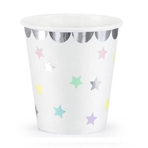 Vaso Unicornio Stars 180 ml (8 uds)