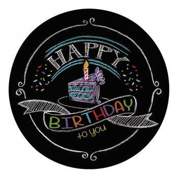 Platos 18cm Chalk Birthday (8uds)