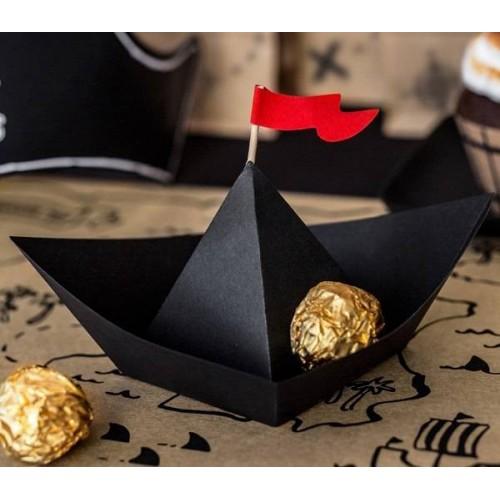 Embarcación Pirata de Papel (6 uds)