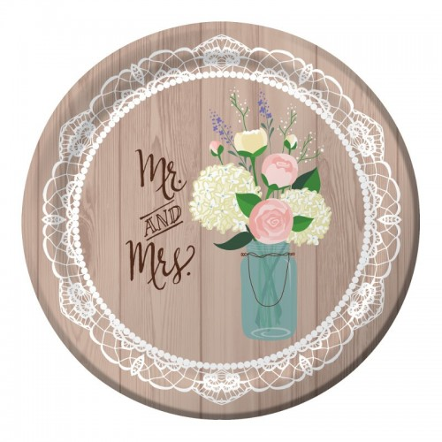 Platos 26cm Rustic Wedding (8 uds)