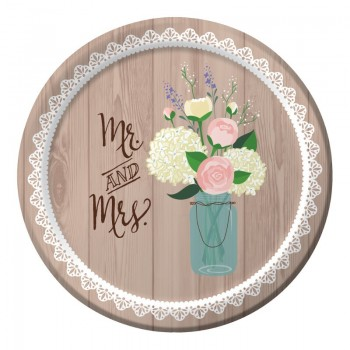 Platos 18cm Rustic Wedding (8 uds)