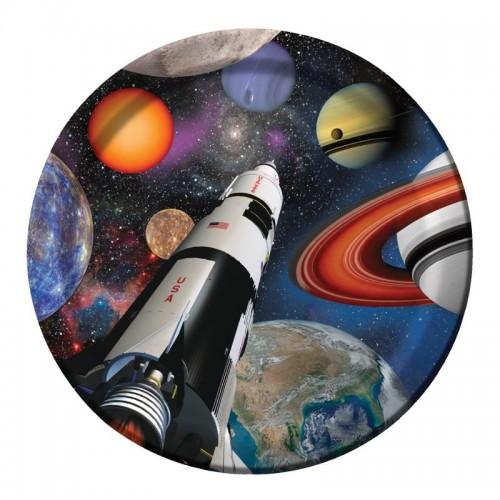 Platos 23cm Space Blast (8 uds)